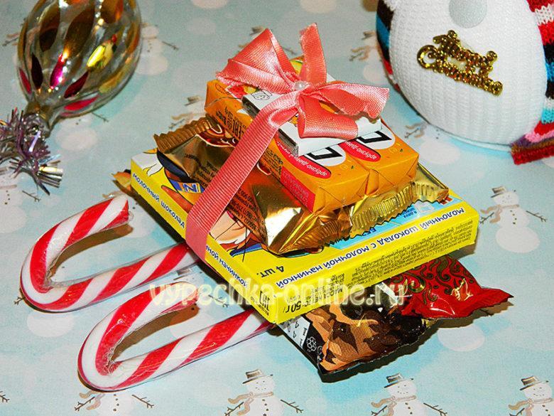 Подарок для деда мороза из конфет