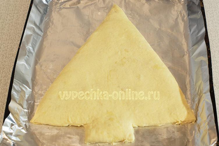 Слоеный пирог елочка