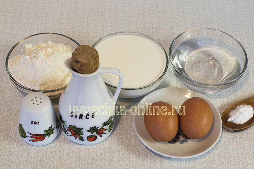 Блины на кефире с содой и кипятком
