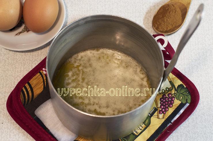 Медовый кекс в духовке