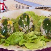 Яйца заливные в скорлупе на мясном бульоне
