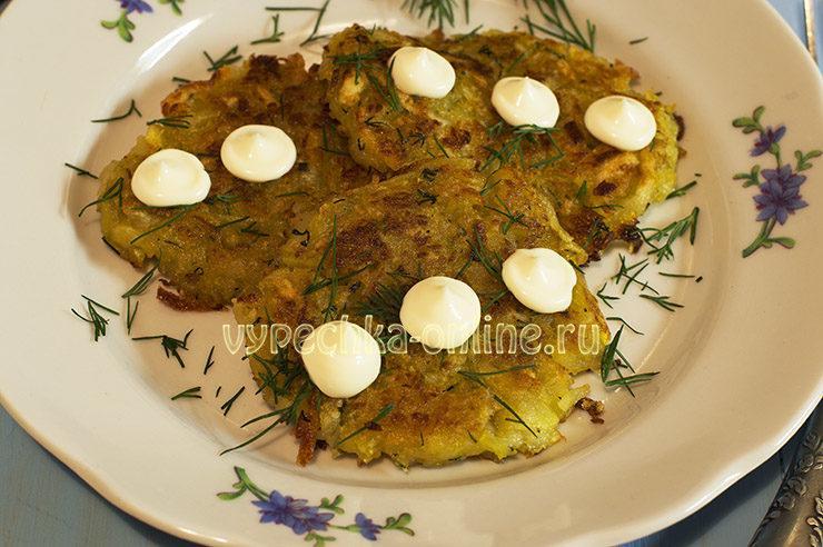 Драники картофельные с кабачком