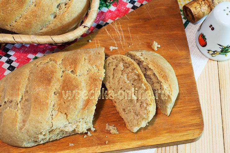 Хлеб из овсяной муки в духовке