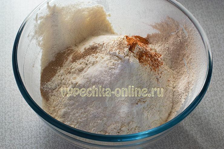 Хлеб пшенично овсяный в духовке