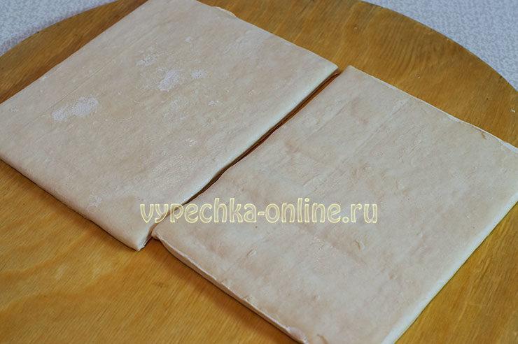 Тарталетки из слоеного теста в формочках