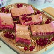 Песочный пирог с красной смородиной