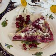 Пирог с ягодами на сковороде