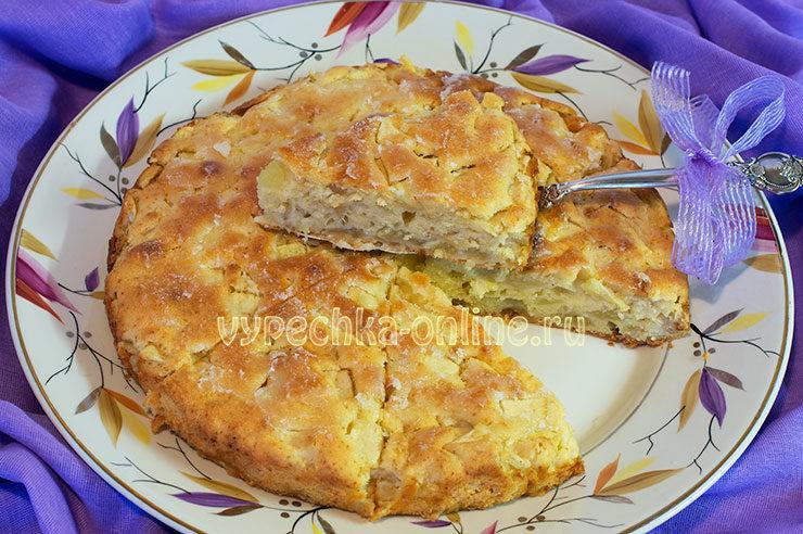 Яблочный пирог бездрожжевой