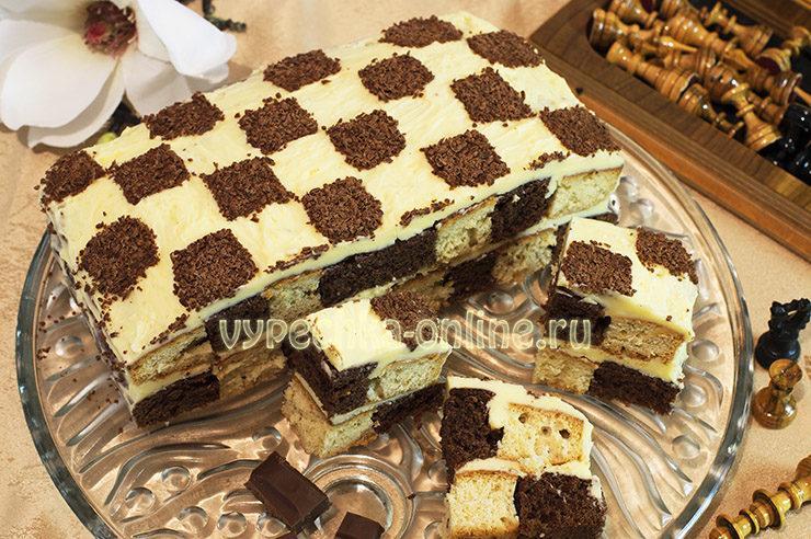 Торт Шахматный рецепт с фото пошагово