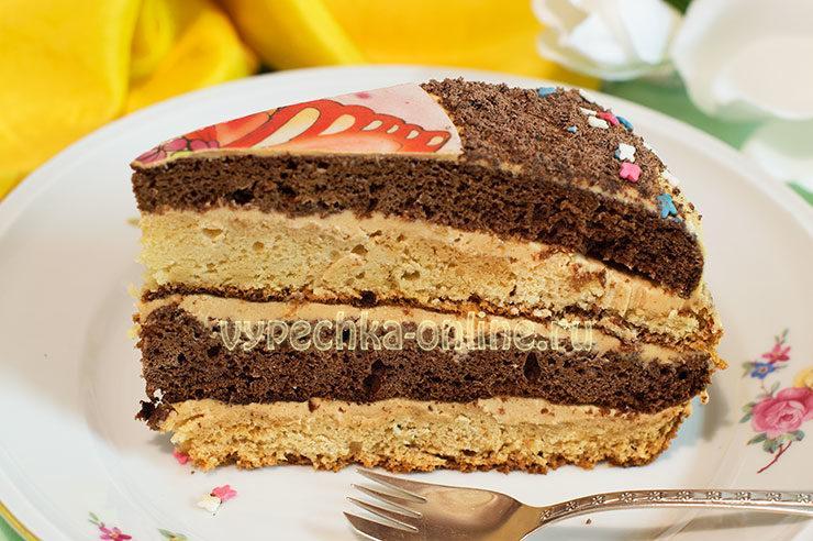 Бисквитный торт на день рождения своими руками