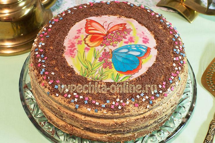 Бисквитный торт своими руками на день рождения