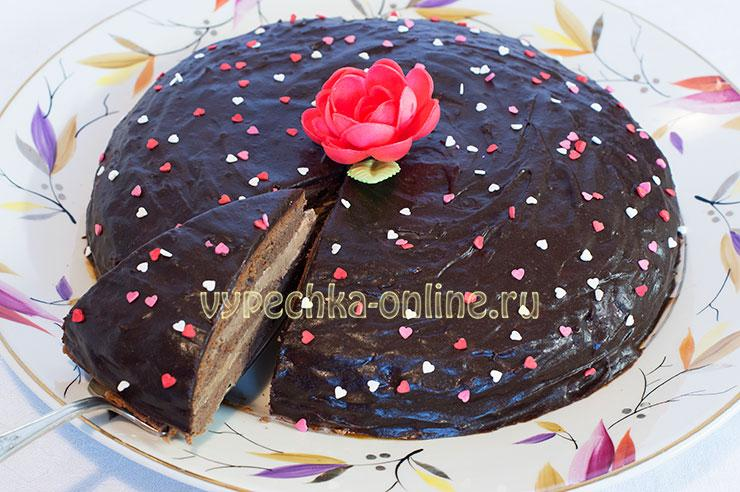 Рецепт шоколадной глазури для торта из какао пошагово