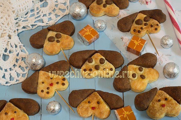 Печенье в виде собачек
