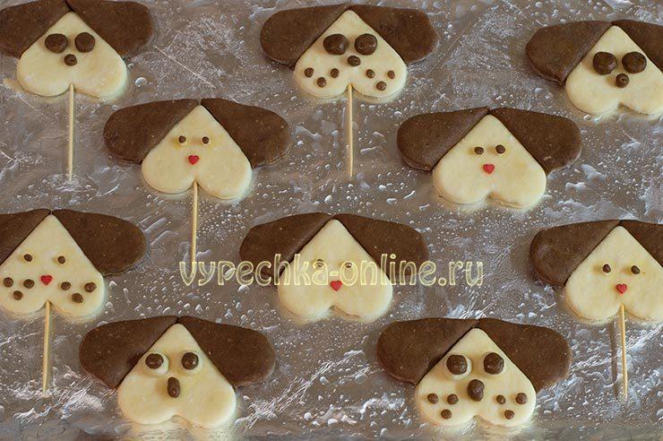 Печенье в виде собаки