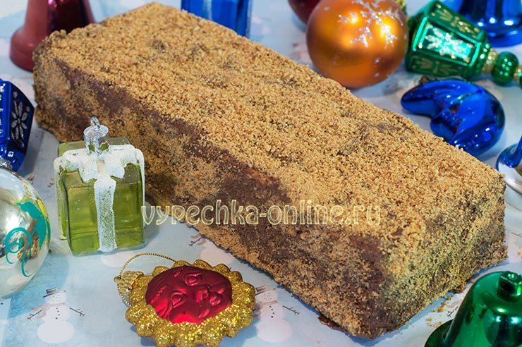 Торт из песочного печенья без выпечки