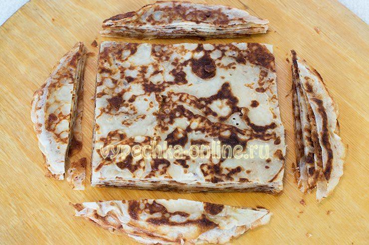 Канапе из блинов на шпажках рецепт с фото