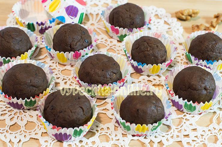 Конфеты из печенья и какао
