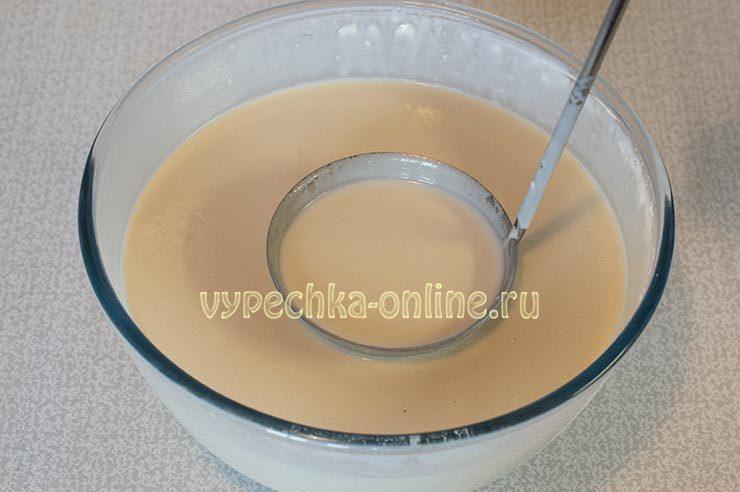 Блины на кислом молоке без яиц