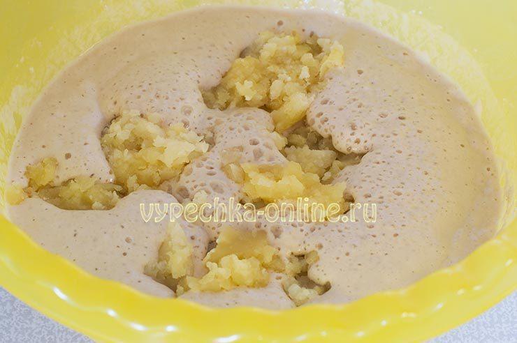 Картофельное дрожжевое тесто для пирога