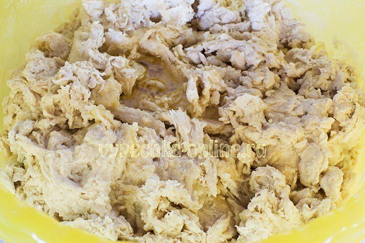 Постное картофельное тесто для пирожков