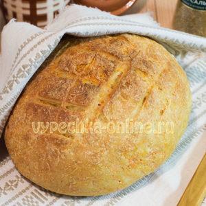 Хлеб в духовке на сухих дрожжах быстрого приготовления