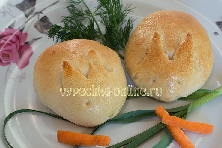 Пасхальные булочки с джемом