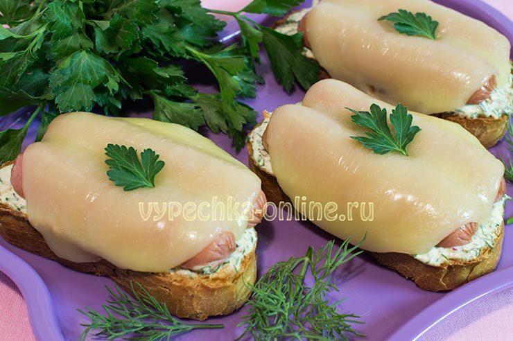 горячие бутерброды рецепты с фото простые и вкусные в духовке