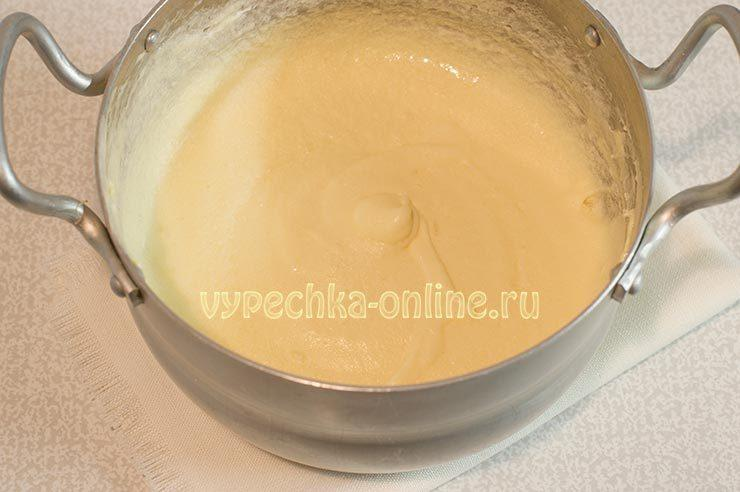 молочный заварной крем