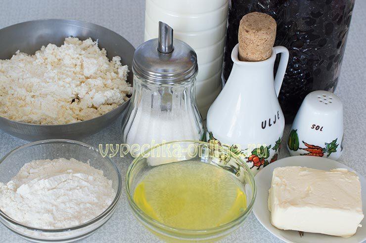 творожный кулич на пасху рецепт с фото пошагово Ингредиенты