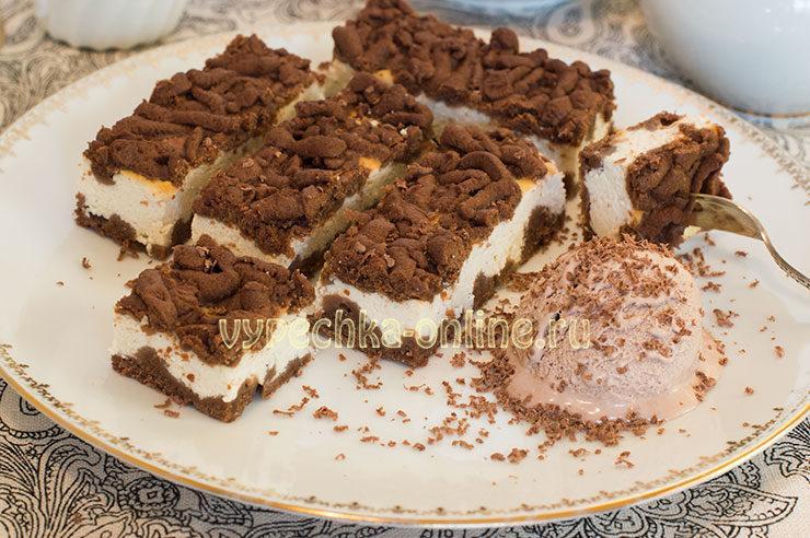 тертый пирог с творогом рецепт