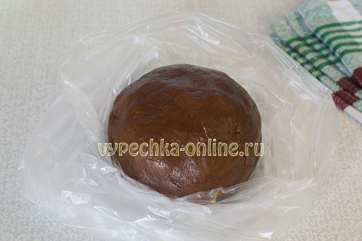 тертый пирог с творогом и какао