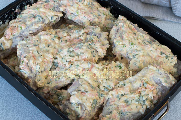 приготовление морского окуня в духовке с картошкой
