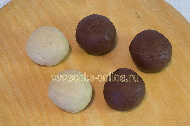двухцветное печенье с какао