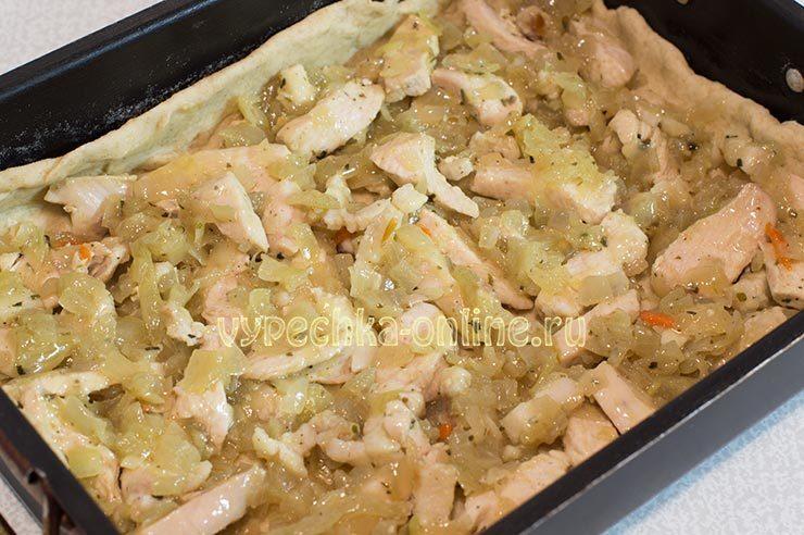 пирог с курицей в духовке