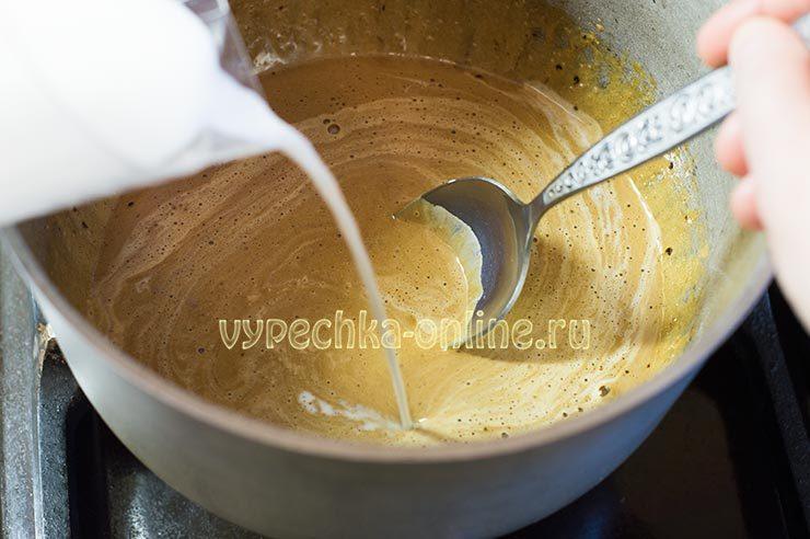 заварной крем для торта в домашних условиях