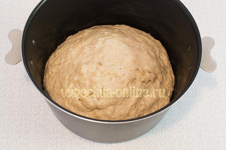 Постный дрожжевой хлеб с ржаной мукой