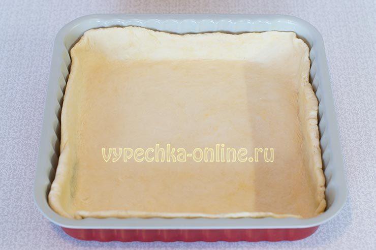 пирог с творогом и вишней в духовке