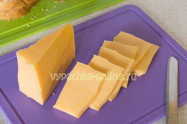 гренки с сыром и яйцом на сковороде рецепт с фото