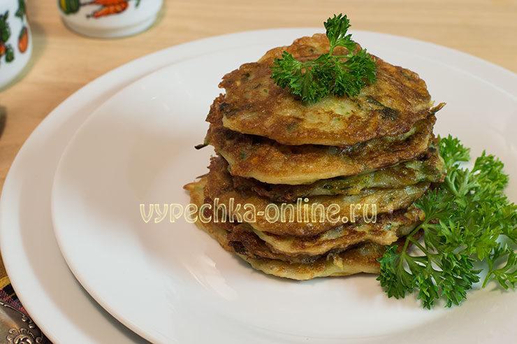 оладьи из кабачков рецепты быстро и вкусно с фото на сковороде