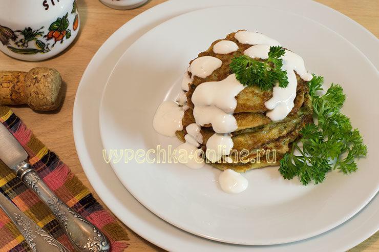 кабачковые оладьи рецепт с фото пошагово на сковороде пышные