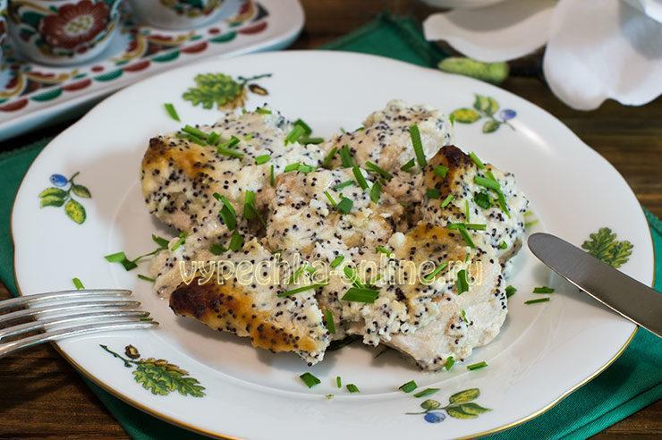 Куриное филе в сметанном соусе в духовке