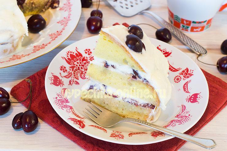 торт с черешней рецепт с фото