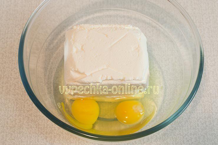 творожная запеканка с малиной в духовке