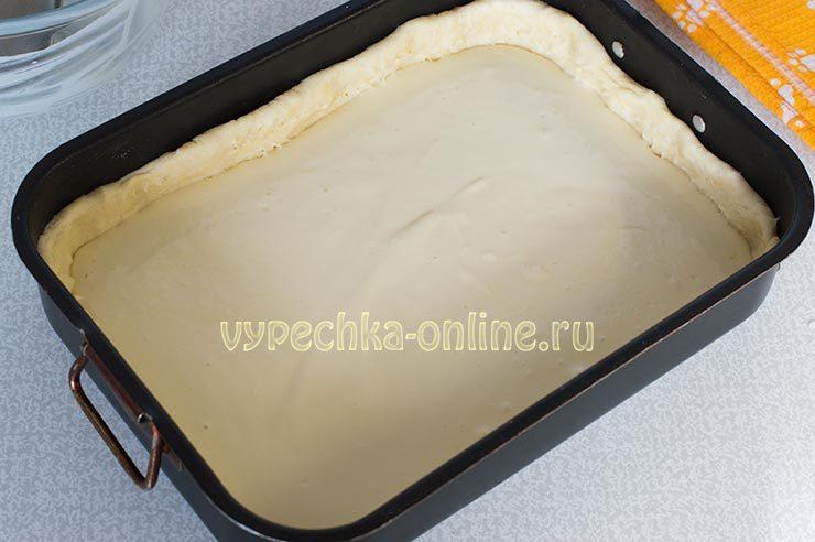 песочный пирог с ягодами и сметанной заливкой рецепт с фото