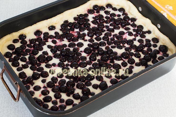 пирог с чёрной смородиной в духовке