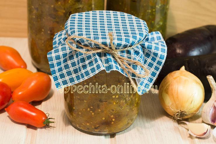 Икра из баклажанов на зиму рецепт с фото пошагово