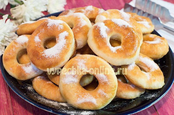 Пончики на кефире рецепт с фото пышные
