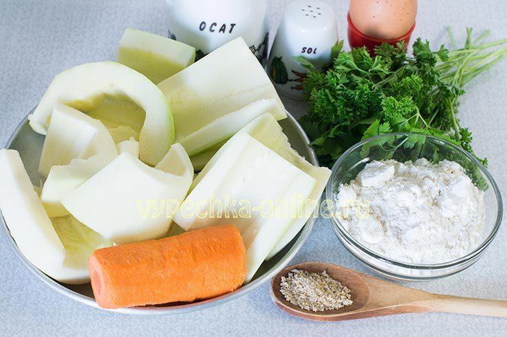 Овощные оладьи из кабачков и моркови