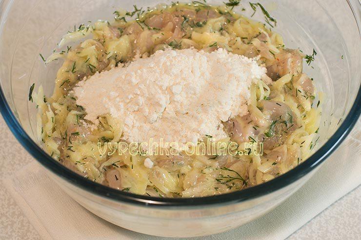 Оладьи из куриной грудки с кабачками рецепт с фото