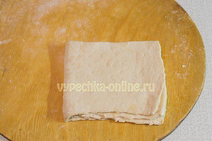Слойки с маком из слоеного теста рецепт с фото